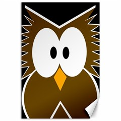 Brown simple owl Canvas 24  x 36