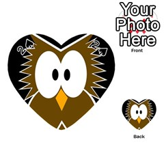 Brown simple owl Playing Cards 54 (Heart)