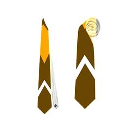 Brown simple owl Neckties (One Side)