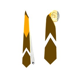 Brown simple owl Neckties (Two Side)