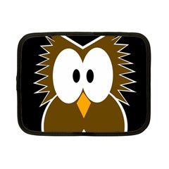Brown simple owl Netbook Case (Small)