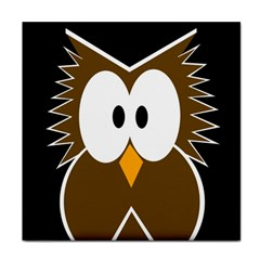 Brown simple owl Face Towel