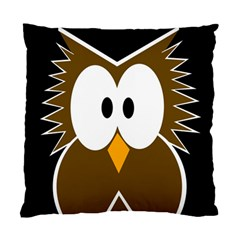 Brown simple owl Standard Cushion Case (Two Sides)