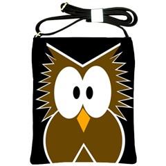 Brown simple owl Shoulder Sling Bags