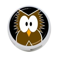 Brown simple owl 4-Port USB Hub (Two Sides)
