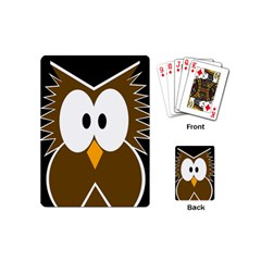 Brown simple owl Playing Cards (Mini)
