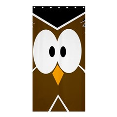 Brown simple owl Shower Curtain 36  x 72  (Stall)