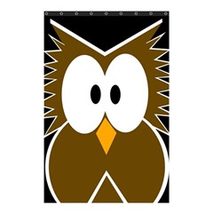 Brown simple owl Shower Curtain 48  x 72  (Small)