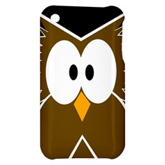 Brown simple owl Apple iPhone 3G/3GS Hardshell Case