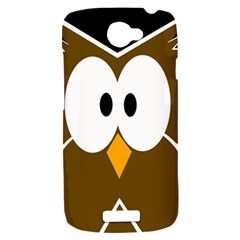 Brown simple owl HTC One S Hardshell Case