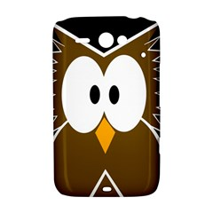 Brown simple owl HTC ChaCha / HTC Status Hardshell Case