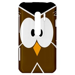 Brown simple owl HTC Evo 3D Hardshell Case