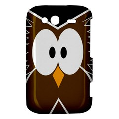 Brown simple owl HTC Wildfire S A510e Hardshell Case