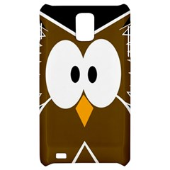 Brown simple owl Samsung Infuse 4G Hardshell Case