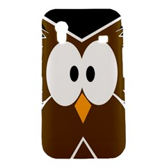 Brown simple owl Samsung Galaxy Ace S5830 Hardshell Case