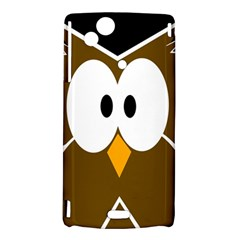 Brown simple owl Sony Xperia Arc