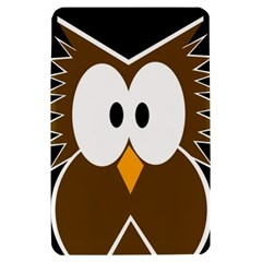 Brown simple owl Kindle Fire (1st Gen) Hardshell Case