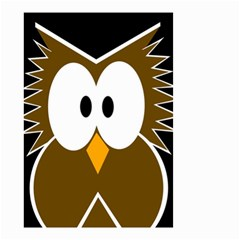 Brown simple owl Small Garden Flag (Two Sides)