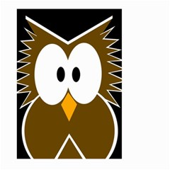 Brown simple owl Large Garden Flag (Two Sides)
