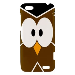 Brown simple owl HTC One V Hardshell Case