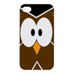 Brown simple owl Apple iPhone 4/4S Premium Hardshell Case