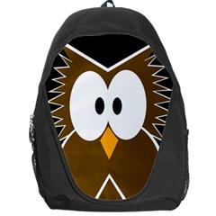 Brown simple owl Backpack Bag