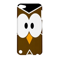 Brown simple owl Apple iPod Touch 5 Hardshell Case