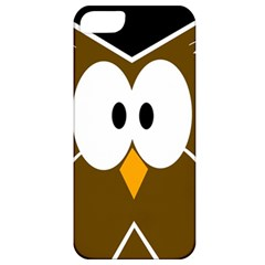Brown simple owl Apple iPhone 5 Classic Hardshell Case