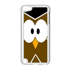 Brown simple owl Apple iPod Touch 5 Case (White)