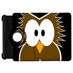 Brown simple owl Kindle Fire HD Flip 360 Case