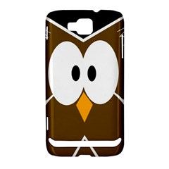 Brown simple owl Samsung Ativ S i8750 Hardshell Case