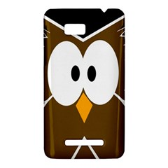 Brown simple owl HTC One SU T528W Hardshell Case