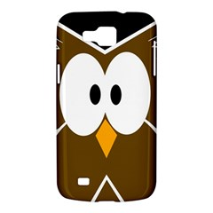 Brown simple owl Samsung Galaxy Premier I9260 Hardshell Case