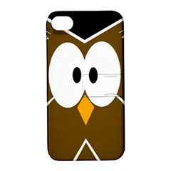 Brown simple owl Apple iPhone 4/4S Hardshell Case with Stand