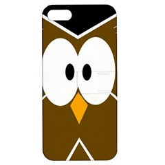 Brown simple owl Apple iPhone 5 Hardshell Case with Stand