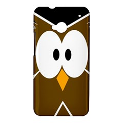 Brown simple owl HTC One M7 Hardshell Case