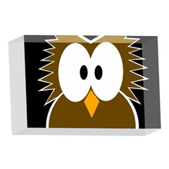 Brown simple owl 4 x 6  Acrylic Photo Blocks
