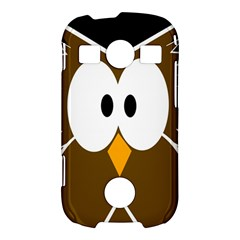 Brown simple owl Samsung Galaxy S7710 Xcover 2 Hardshell Case