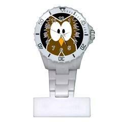 Brown simple owl Plastic Nurses Watch
