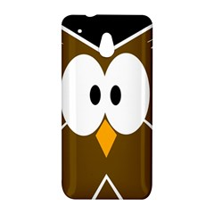 Brown simple owl HTC One Mini (601e) M4 Hardshell Case