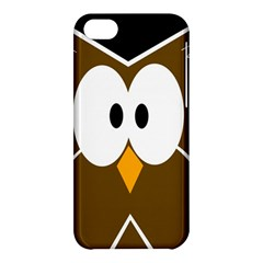 Brown simple owl Apple iPhone 5C Hardshell Case