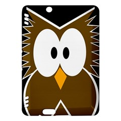 Brown simple owl Kindle Fire HDX Hardshell Case