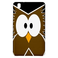 Brown simple owl Samsung Galaxy Tab Pro 8.4 Hardshell Case