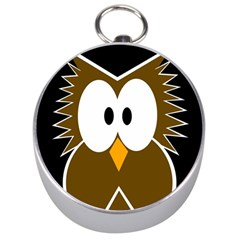 Brown simple owl Silver Compasses