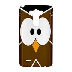 Brown simple owl LG G3 Hardshell Case