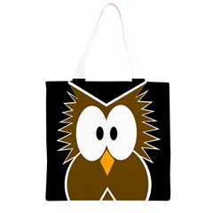 Brown simple owl Grocery Light Tote Bag