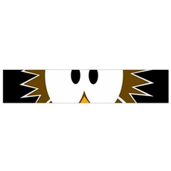 Brown simple owl Flano Scarf (Small)