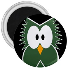 Green owl 3  Magnets