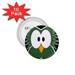 Green owl 1.75  Buttons (10 pack)