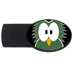 Green owl USB Flash Drive Oval (1 GB)